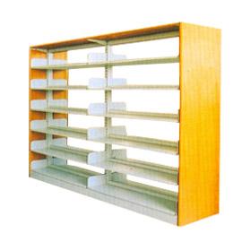 水护板单柱双面书架